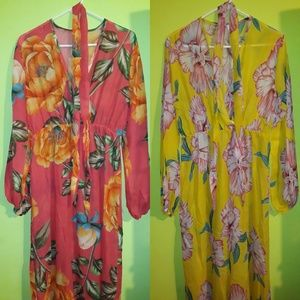 Pink and Yellow Floral Dresses